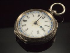 Victorian Silver Pocket Watch, Antique Fob Watch Pendant on Etsy, $120.81