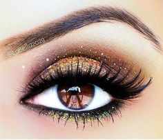 beautiful brown eye make up idea