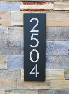 Crestview Address Plaque House Numbers Address Sign Free | Etsy House Address Numbers, House Address Sign, House Number Plaque, Address Plaque, Address Signs, Ceramica Exterior, Industrial House Numbers, Rachel House, Cnc Plasma Table