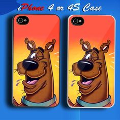 Scooby Doo 3 Custom iPhone 4 or 4S Case Cover
