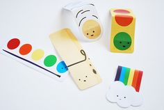 More fun printable bookmarks from Wild Olive, including a rainbow and a clothespin. Just add a magnet!
