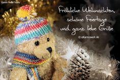 Fröhliche Weihnachten, schöne Feiertage und ganz liebe Grüße. Animierte Djabbi Flaffel Grußkarte