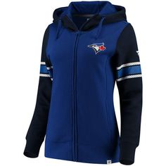 Complete your outfit with the perfect amount of Toronto Blue Jays flair when you choose this dynamic Iconic full-zip hoodie from Fanatics Branded. This bold top is the ideal way to boast your fervent Toronto Blue Jays fandom all season long! Toronto Photography, Toronto Blue Jays, Royal Navy, Full Zip Hoodie, Sport Wear, Sport Outfits, Nike Jacket, Hooded Jacket, What To Wear