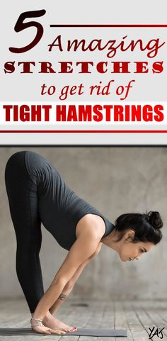 Tight hamstrings can be a real pain in the neck. If you spend a great deal of your time in a seated position or train your legs, chances are that you need to loosen them up again - here I have 5 stretches for you that get the job done! Leg Stretches For Flexibility, Stretches For Tight Hamstrings, Stretches For Runners, Flexibility Training, Leg Stretching, Amazing Flexibility, Best Hamstring Stretches, Stretches To Increase Flexibility, Dance Stretches