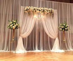 diy wedding backdrop fabric