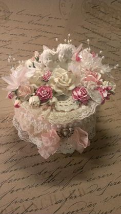 Shabby Chic Altered Box by KittysScrapPost for $30.00