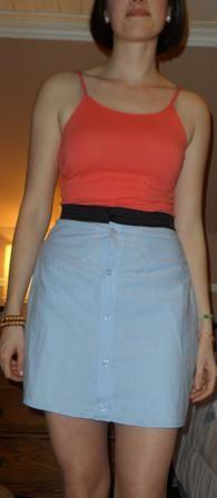 Skirt out of a men's dress shirt!