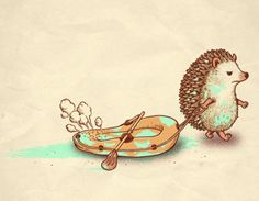 awww...it's hard to have fun when you're a hedgehog :(