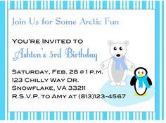 Arctic Party Printable Invitations by TrishsDesignStudio