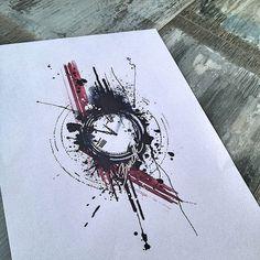 trash polka tattoo designs + crosshair - Google Search