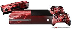 Mystic Vortex Red - Holiday Bundle Decal Style Skin Set Fits Xbox One Console, Kinect And 2 Controllers (Xbox System Sold Separately), 2015 Amazon Top Rated Faceplates, Protectors & Skins #VideoGames