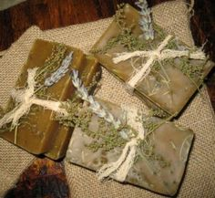 handmade herbal soaps with beautiful herbal touches