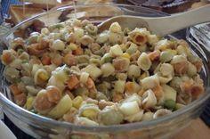 Tonnikalasalaatti Pasta Salad, Food And Drink, Vegetables, Ethnic Recipes, Eat, Drinks, Crab Pasta Salad, Drinking, Beverages