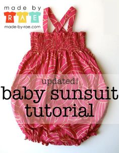 I'm sighing over this adorable baby sunsuit tutorial (an updated and improved pattern). It's a free download, and if any of my friends were pregnant with a