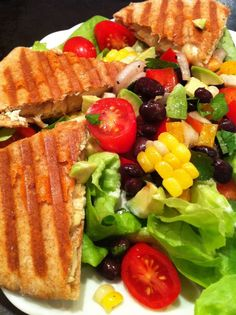 Southwestern Chicken (or Turkey) Quesadilla Salad...a remake of my favorite restaurant salad, including my healthier ranch dressing!