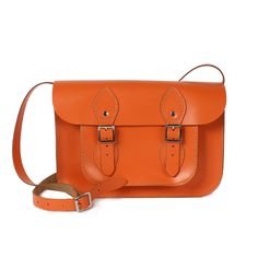 leather satchel bright collection, small by bohemia