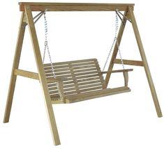 August Grove Donath Pergola Style Arbor Porch Swing with Stand Porch Swing Frame, Porch Swing With Stand, Patio Swing, Patio Roof, Porch Swings, Swing Seat, Pergola Patio, Gazebo, Garden Swings