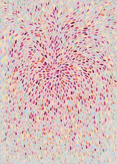 Abstract Art Print - The Change - 20x28 - Open Edition - pink, heart, love. $89. By Mishel Valenton at Aeropagita Prints.