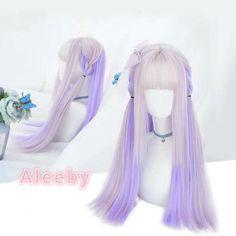 Long hair | aleeby Kawaii Hairstyles, Pretty Hairstyles, Wig Hairstyles, Anime Wigs, Anime Hair, Cosplay Hair, Cosplay Wigs, Wig Styles, Curly Hair Styles