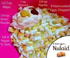 Are you looking for a quick meal or appetizer for those last minute occasions? Look no further! This Easy Egg Salad Recipe takes less than 30 minutes to cook and prepare and only requires a handful of ingredients. #Eggs #Recipe #Nulaid