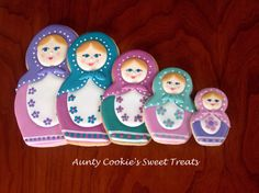 Russian Nesting Dolls by Aunty Cookie