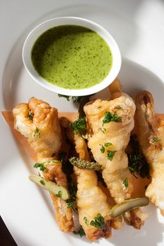 Crisp Frog Legs Orly Style I The Bocuse Restaurant I The Culinary Institute of America