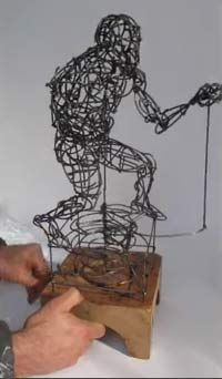 The process of creating a kinetic boxer sculpture by Aaron Kramer