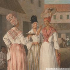 @dawnbradleyein Agostino Brunias A West Indian Flower Girl and Two other Free Women of Color #art