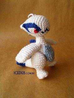 Lugia chibi - crochet pokemon