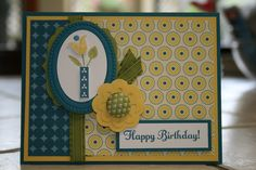 Bright Blossoms Birthday Card