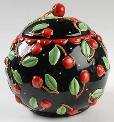 Cherry cookie jar ala Mary Engelbreit