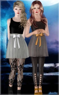 Front bow dress by Jennisims - Sims 3 Downloads CC Caboodle