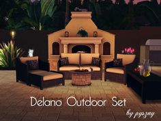 Delano Outdoor Set by pyszny16 - Sims 3 Downloads CC Caboodle