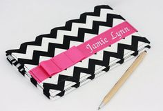 Personalized Checkbook cover / Handmade by GisellasDesigns