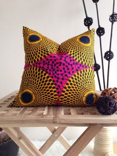18 African Print Pillow Cover Home Decor Decorative by JuneThirty