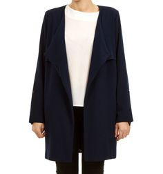 CANNES COAT NAVY via Jascha online store. Click on the image to see more!