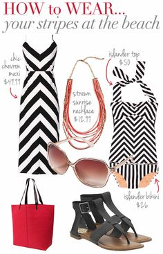 How to Wear Stripes at the Beach | DownEast Basics Blog
