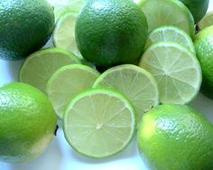 I love the way limes smell when you cut into them, so fresh and bright..almost like an expensive perfume. And the taste!