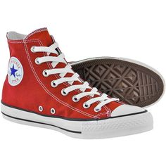 Converse All Stars Red high top boots - red Converse - high top boots... ($64) ❤ liked on Polyvore