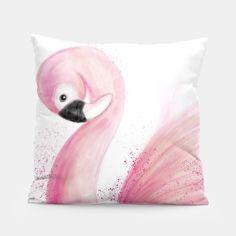 skandinavisch wohnen - hübsches Kissen Flamingo - auch eine tolle Geschenkidee #flamingolove #kissen #flamingoliebe #bohostyle #flamingos #scandinavian #flamingoliebhaber #deko...
