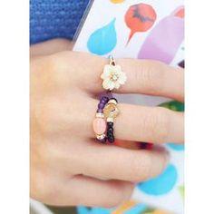 'kitsch island – Gemstone Beads Ring'