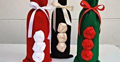 Eco-Friendly Felt and Satin Bottle Bags! Perfect for Sparkling Beverages or Wine Bottles! | Jane