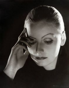 Garbo by Clarence Sinclair Bull, head of MGM's stills department for nearly forty years. Along with Hurrell, he virtually invented celebrity portraiture as we know it today, capturing with rare artistry a breathtaking roster of stars in brilliant and often surprising ways.""