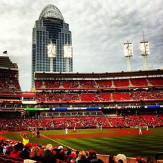 """Cincinnati Reds Game - One of the winners of the #Ohiomemory @Ohiogram Instagram photo contest. """"Cincinnati Reds games are one of my all time favorite things to do in Cincinnati"""""""