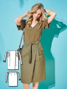 Belted Skirt 02/2016 #115B http://www.burdastyle.com/pattern_store/patterns/belted-skirt-022016?utm_source=burdastyle.com&utm_medium=referral&utm_campaign=bs-tta-bl-160201-ColorfulBasicsCollection115B