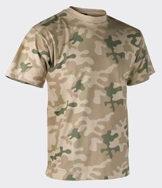 9f532aaf6d846 Helikon Men's Cotton Army T-Shirt – Polish desert Camo Patterns, Military  Style T