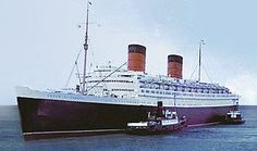 The RMS Queen Elizabeth (sister ship of the Queen Mary)