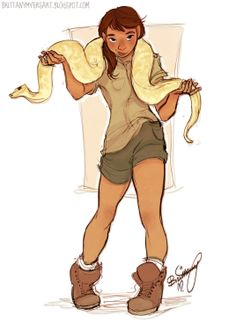 Interesting character to have, but uh, let's keep that snake away from me or I swear I will turn into Neville Longbottom or run away faster then The Flash. I don't know which.