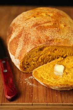 Pumpkin, Garlic and Chili Bread