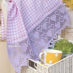 Filet Crochet, Crochet Edgings, Gingham Check, Sweet Home, Blanket, Tablecloths, Hearts, Dish Towels, Ideas